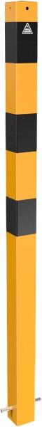 Absperrpfosten ortsfest schwarz / gelb