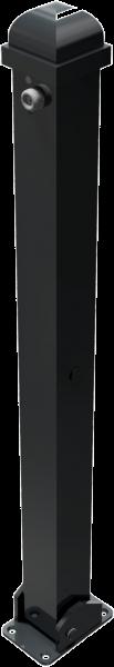 Stilpfosten VKT 70x70mm, mit Zierkopf, umlegbar