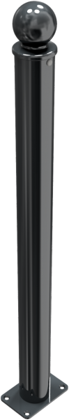 Stilpfosten DMR. 76mm. mit Kugelkopf, ortsfest