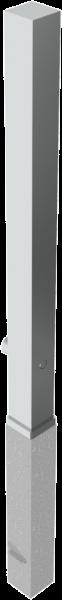 Edelstahlpoller 70x70mm. mit Flachkopf herausnehmbar