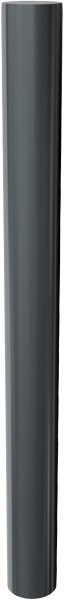 Stilpfosten DMR.102 mm, mit Flachkopf, herausnehmbar