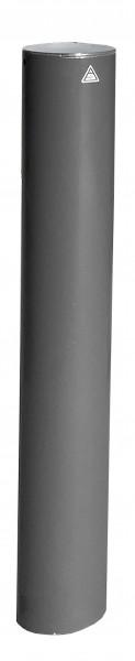Stilpfosten DMR.155 mm, mit Flachkopf, herausnehmbar