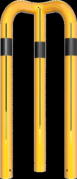 Rammschutzbügel 90° gleichschenkelig DMR 76 mm gelb/schwarz