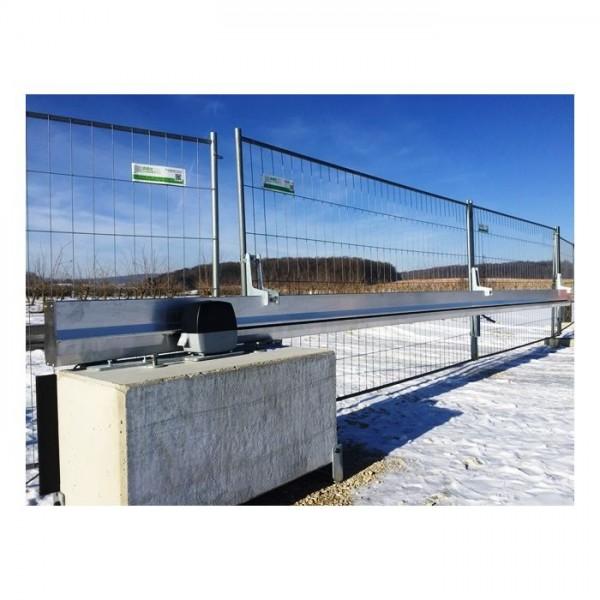 Mobiles Bauzaun Schiebetor, 6 mtr. Durchfahrtsbreite