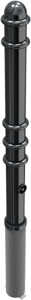 Stilpfosten DMR.76 mm, mit Ringen herausnehmbar