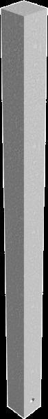 Edelstahlpoller 70x70mm mit Flachkopf ortsfest