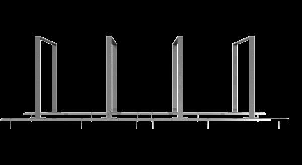 Fahrradständer als Reihenanlage Flachstahl 50x12 mm
