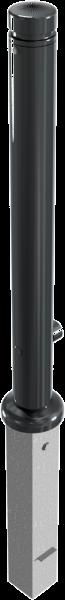Stilpfosten DMR.82 mm, Zierkopf mit Rille, herausnehmbar