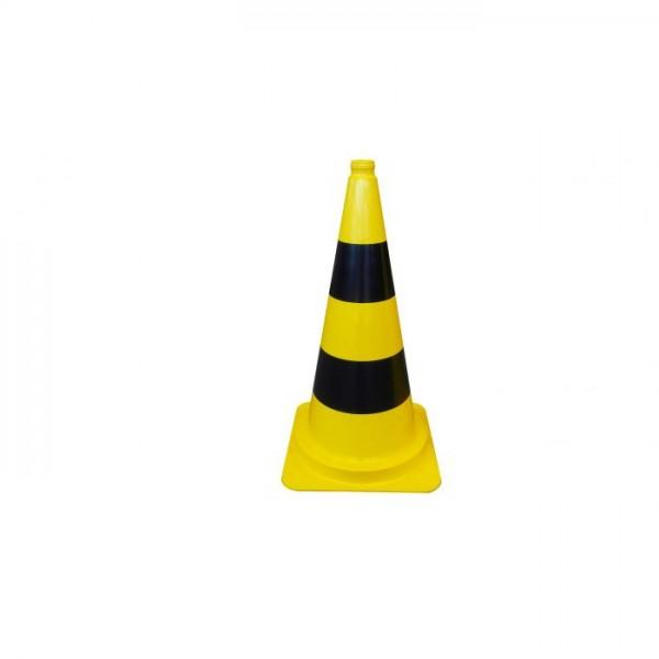 Leitkegel gelb , schwarze Streifen