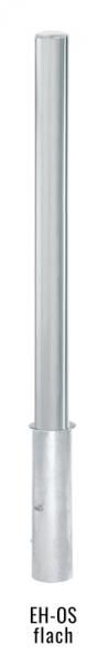Edelstahlpoller DMR.76 mm mit Flachkopf ortsfest