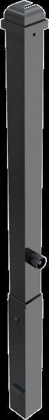 Stilpfosten VKT 70x70mm, mit Zierkopf, herausnehmbar