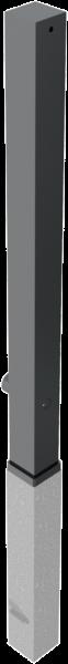 Stilpfosten VKT 70x70 mm, 80x80, 100x100 mm, herausnehmbar