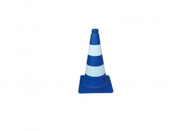 Leitkegel blau , weiße Streifen