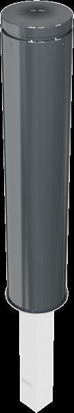 Stilpfosten DMR.195 mm, Alukopf mit Ziernut, herausnehmbar