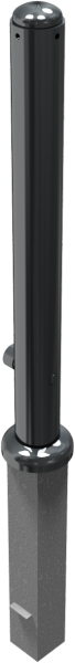 Stilpfosten DMR.82 mm, mit Zierkopf, herausnehmbar