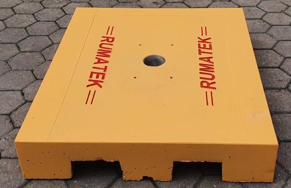 Mobile Fundamentplatte zur Schrankenmontage VS.650