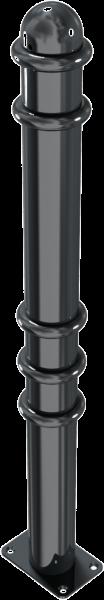 Stilpfosten DMR. 76mm. mit Ringen, ortsfest