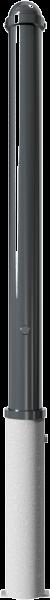 Stilpfosten DMR.76 mm, mit Zierkopf, herausnehmbar