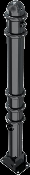 Stilpfosten DMR.76 mm, mit Ringen, umlegbar
