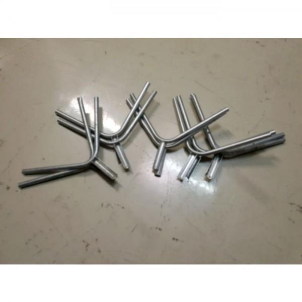 11 Stück Stacheldrahthalter in Y-Form