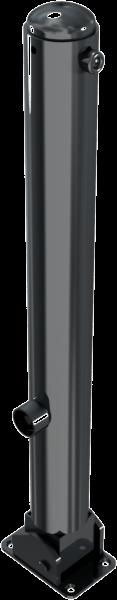 Stilpfosten DMR.82 mm, mit Zierkopf, umlegbar