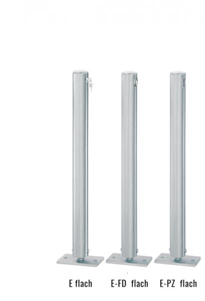 Edelstahlpoller DMR.76 mm mit Flachkopf umlegbar
