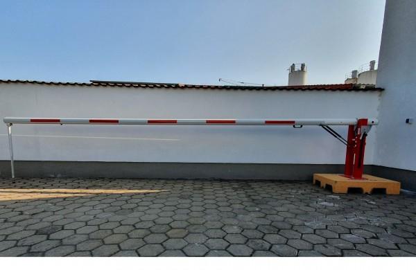 Gasdruckschranke Comfort, Sperrbreite 6,0 m, Pendelstütze, PZ, gebraucht