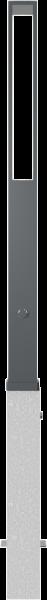 Stilpfosten VKT 70x70 mm Oberteil Flachstahl , herausnehmbar