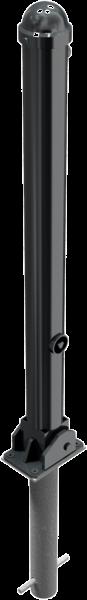 Stilpfosten DMR.76 mm, mit Zierkopf, umlegbar