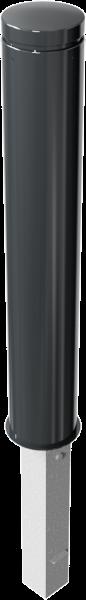 Stilpfosten DMR.155 mm, Alukopf mit Ziernut, herausnehmbar