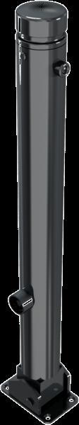 Stilpfosten DMR.82 mm, Zierkopf mit Rille, umlegbar