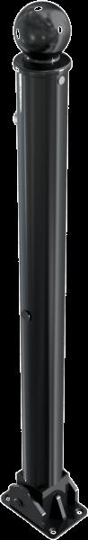 Stilpfosten DMR.76 mm, mit Kugelkopf, umlegbar