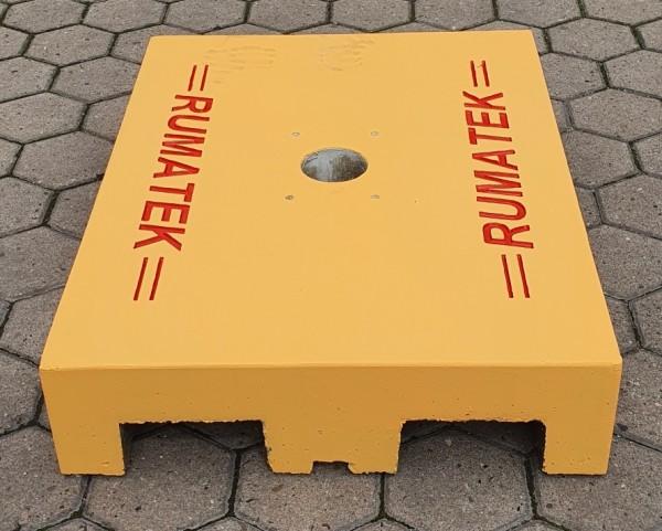 Mobile Fundamentplatte zur Schrankenmontage VS.350-VS.500