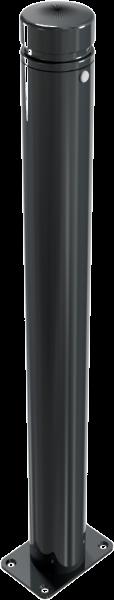 Stilpfosten DMR. 82 mm. Zierkopf mit Rille, ortsfest