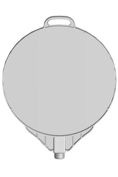 Schild Rund DMR 380 mm