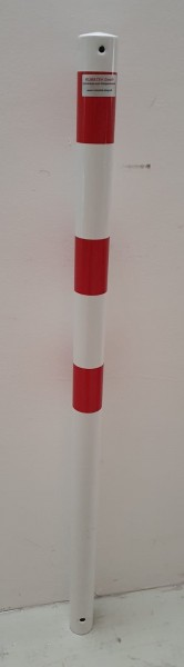 Sperrpfosten DMR 60 mm rot/weiß, zum Einbetonieren